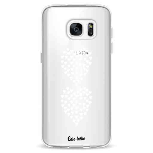 Casetastic Softcover Samsung Galaxy S7 - Hearts Heart 2 White Transparent