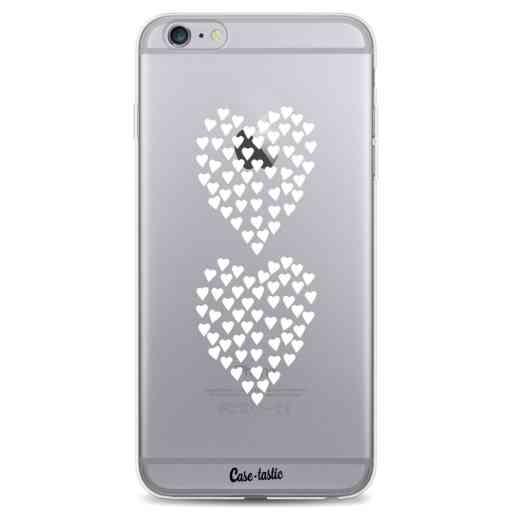 Casetastic Softcover Apple iPhone 6 Plus / 6s Plus - Hearts Heart 2 White Transparent