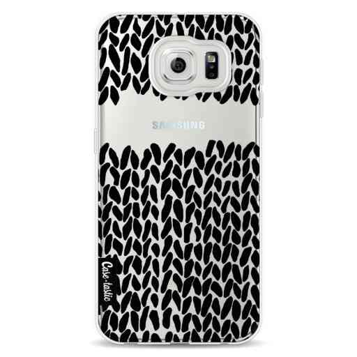 Casetastic Softcover Samsung Galaxy S6 - Missing Knit Black Transparent