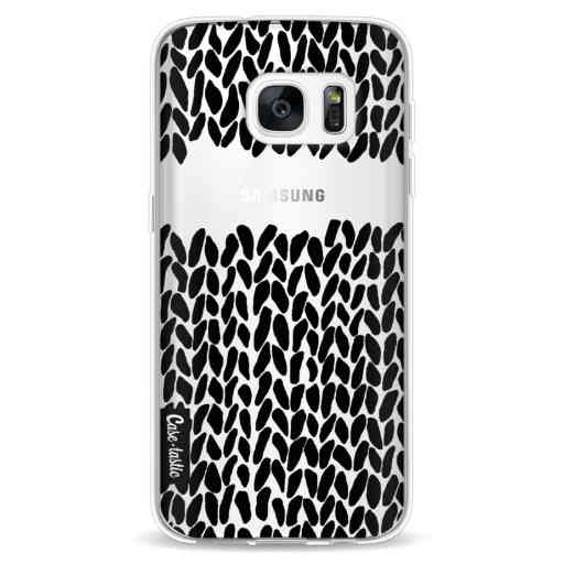 Casetastic Softcover Samsung Galaxy S7 - Missing Knit Black Transparent