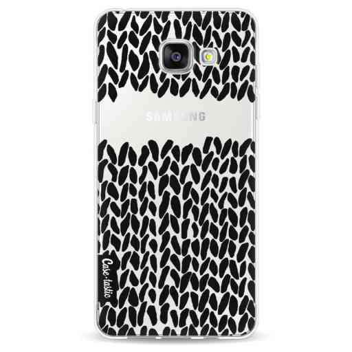 Casetastic Softcover Samsung Galaxy A5 (2016) - Missing Knit Black Transparent