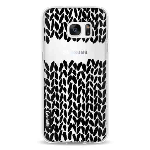 Casetastic Softcover Samsung Galaxy S7 Edge - Missing Knit Black Transparent