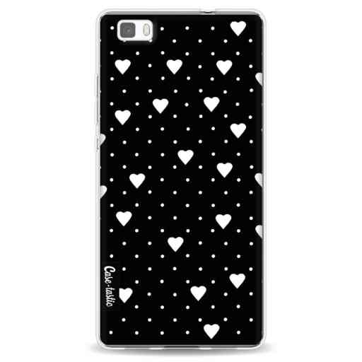 Casetastic Softcover Huawei P8 Lite - Pin Point Hearts Black