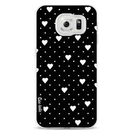 Casetastic Softcover Samsung Galaxy S6 - Pin Point Hearts Black