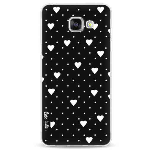 Casetastic Softcover Samsung Galaxy A5 (2016) - Pin Point Hearts Black