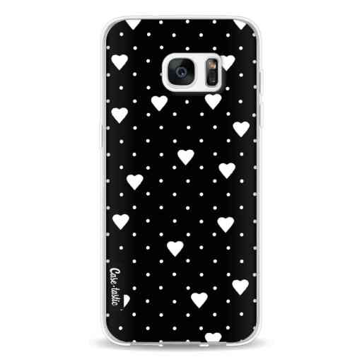 Casetastic Softcover Samsung Galaxy S7 Edge - Pin Point Hearts Black