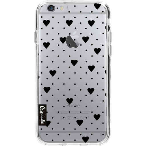 Casetastic Softcover Apple iPhone 6 / 6s  - Pin Point Hearts Black Transparent