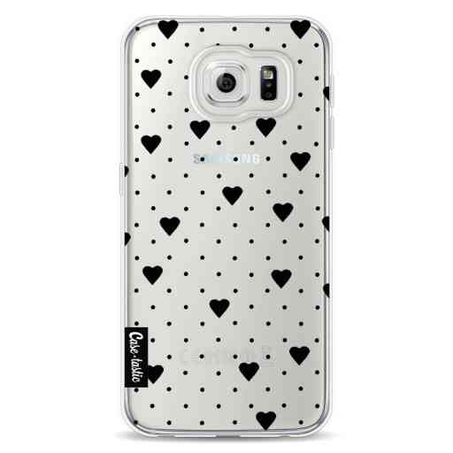 Casetastic Softcover Samsung Galaxy S6 - Pin Point Hearts Black Transparent