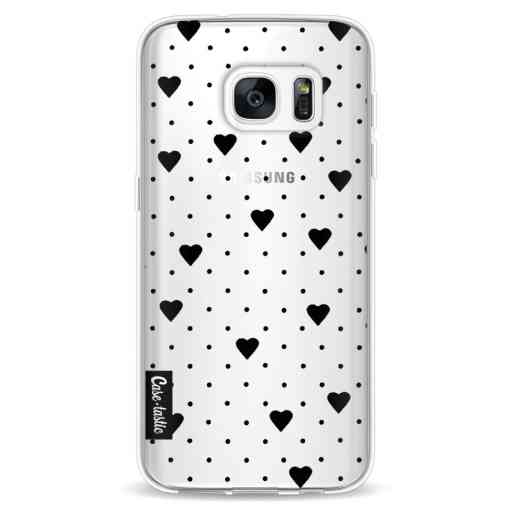 Casetastic Softcover Samsung Galaxy S7 - Pin Point Hearts Black Transparent
