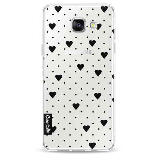 Casetastic Softcover Samsung Galaxy A5 (2016) - Pin Point Hearts Black Transparent