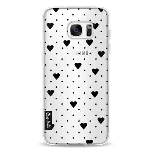 Casetastic Softcover Samsung Galaxy S7 Edge - Pin Point Hearts Black Transparent