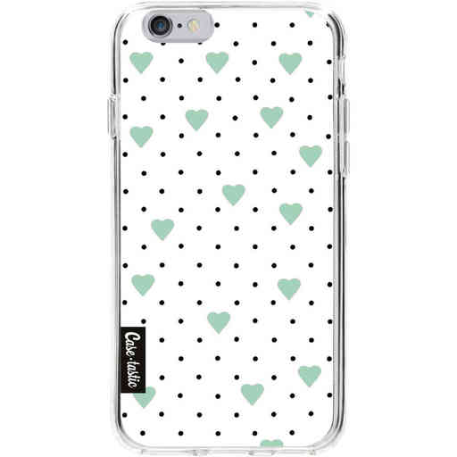 Casetastic Softcover Apple iPhone 6 / 6s  - Pin Point Hearts Mint
