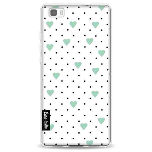 Casetastic Softcover Huawei P8 Lite - Pin Point Hearts Mint