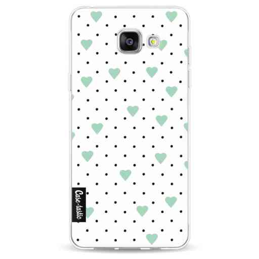 Casetastic Softcover Samsung Galaxy A5 (2016) - Pin Point Hearts Mint