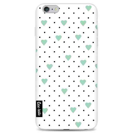Casetastic Softcover Apple iPhone 6 Plus / 6s Plus - Pin Point Hearts Mint