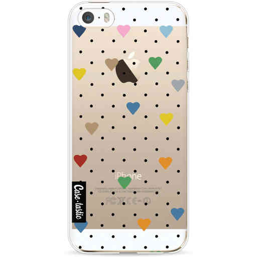 Casetastic Softcover Apple iPhone 5 / 5s / SE - Pin Point Hearts Transparent