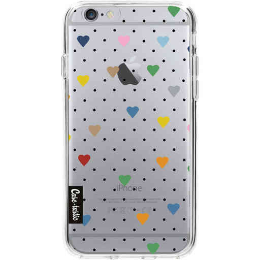Casetastic Softcover Apple iPhone 6 / 6s  - Pin Point Hearts Transparent