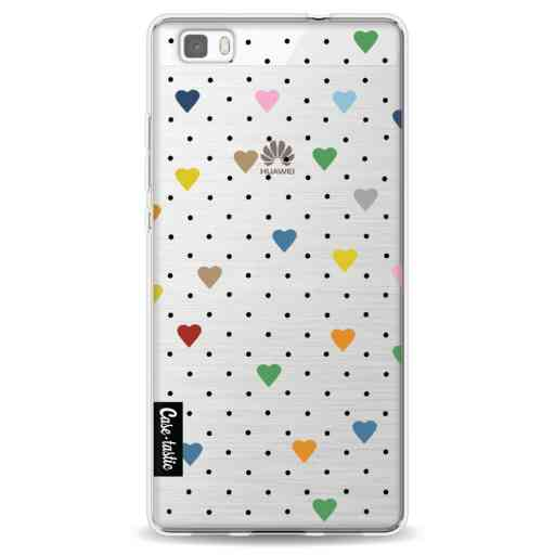 Casetastic Softcover Huawei P8 Lite - Pin Point Hearts Transparent