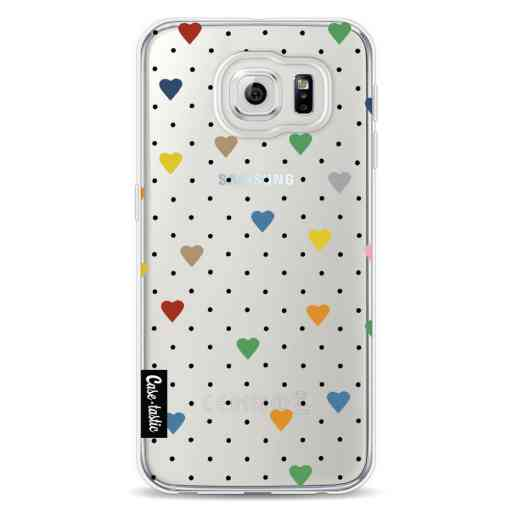Casetastic Softcover Samsung Galaxy S6 - Pin Point Hearts Transparent