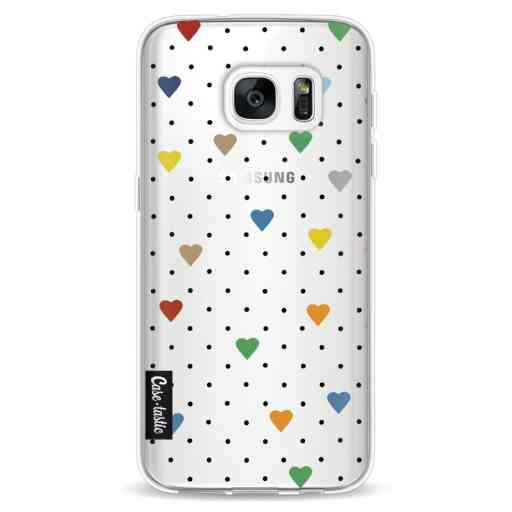 Casetastic Softcover Samsung Galaxy S7 - Pin Point Hearts Transparent