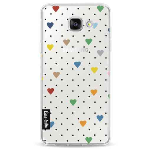 Casetastic Softcover Samsung Galaxy A5 (2016) - Pin Point Hearts Transparent