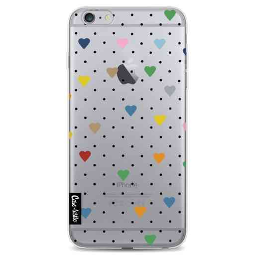Casetastic Softcover Apple iPhone 6 Plus / 6s Plus - Pin Point Hearts Transparent