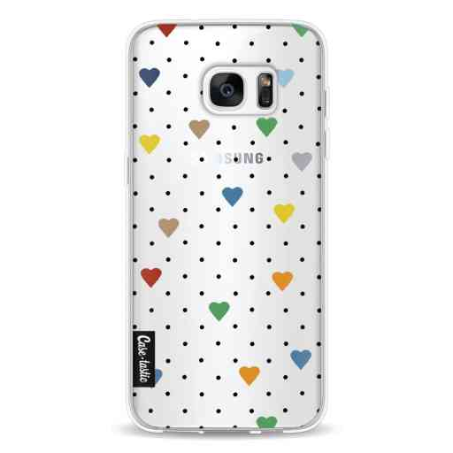 Casetastic Softcover Samsung Galaxy S7 Edge - Pin Point Hearts Transparent
