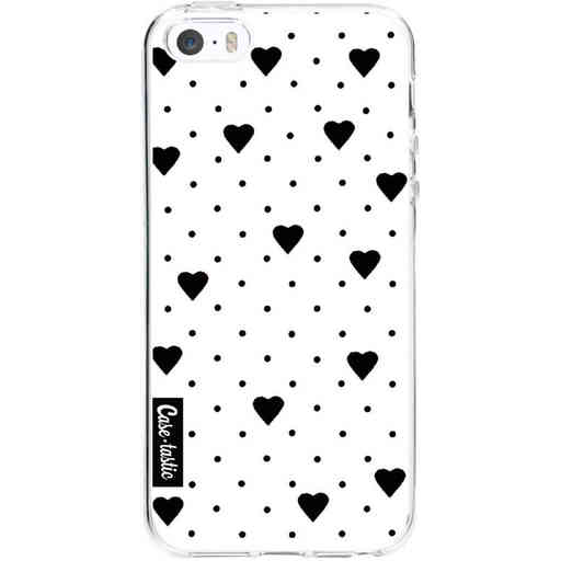 Casetastic Softcover Apple iPhone 5 / 5s / SE - Pin Point Hearts White