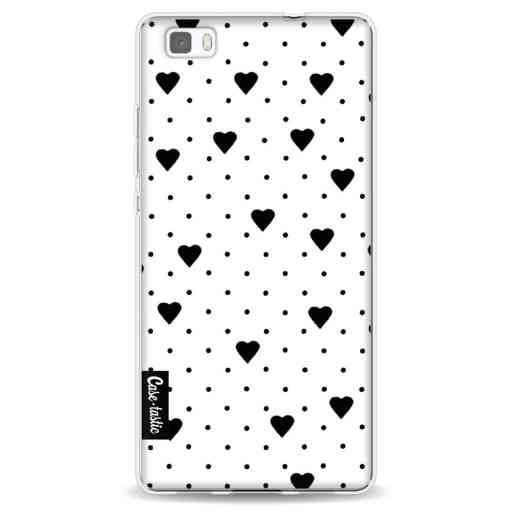 Casetastic Softcover Huawei P8 Lite - Pin Point Hearts White