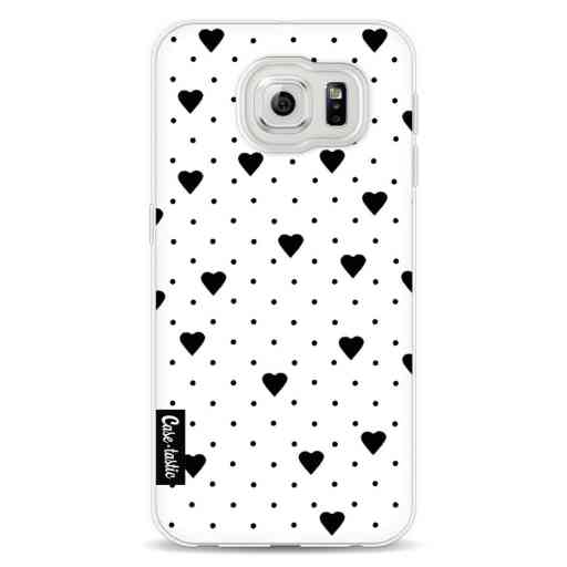 Casetastic Softcover Samsung Galaxy S6 - Pin Point Hearts White