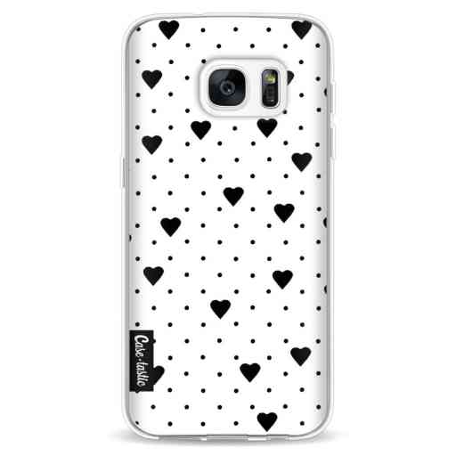 Casetastic Softcover Samsung Galaxy S7 - Pin Point Hearts White