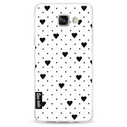 Casetastic Softcover Samsung Galaxy A5 (2016) - Pin Point Hearts White