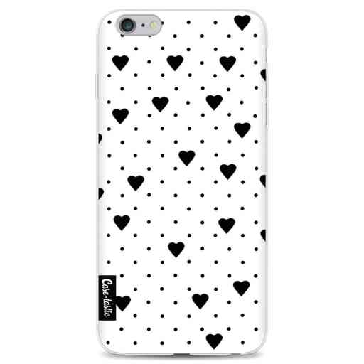 Casetastic Softcover Apple iPhone 6 Plus / 6s Plus - Pin Point Hearts White