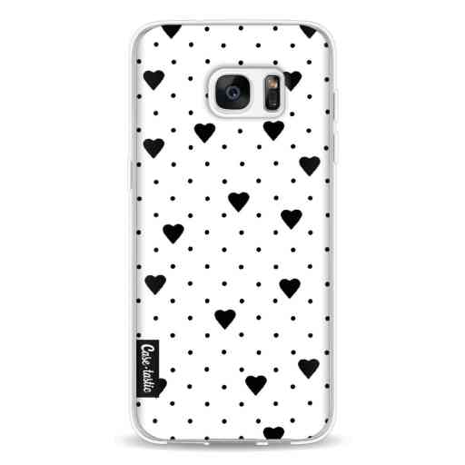 Casetastic Softcover Samsung Galaxy S7 Edge - Pin Point Hearts White