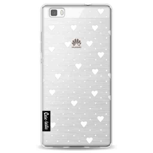 Casetastic Softcover Huawei P8 Lite - Pin Point Hearts White Transparent