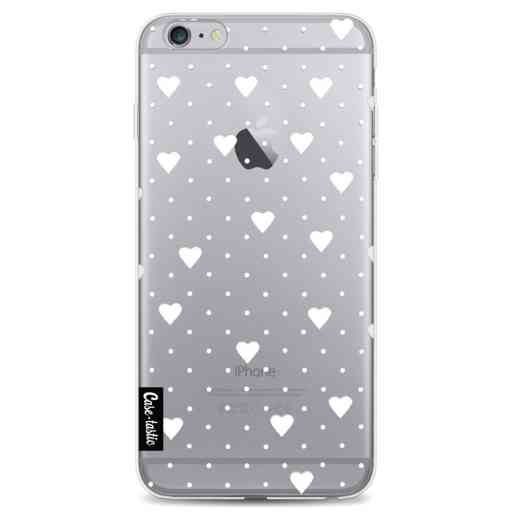 Casetastic Softcover Apple iPhone 6 Plus / 6s Plus - Pin Point Hearts White Transparent