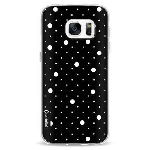 Casetastic Softcover Samsung Galaxy S7 - Pin Points Polka Black