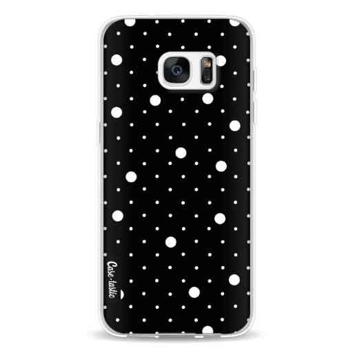 Casetastic Softcover Samsung Galaxy S7 Edge - Pin Points Polka Black