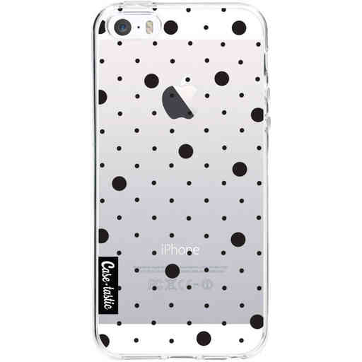 Casetastic Softcover Apple iPhone 5 / 5s / SE - Pin Points Polka Black Transparent