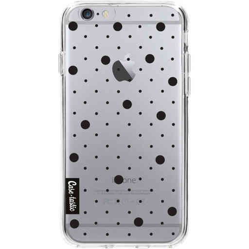 Casetastic Softcover Apple iPhone 6 / 6s  - Pin Points Polka Black Transparent