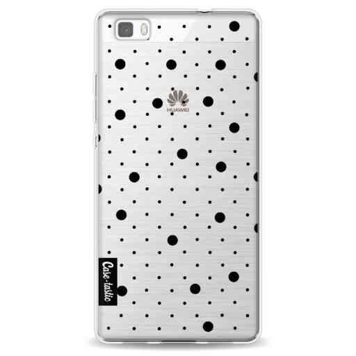 Casetastic Softcover Huawei P8 Lite (2015) - Pin Points Polka Black Transparent