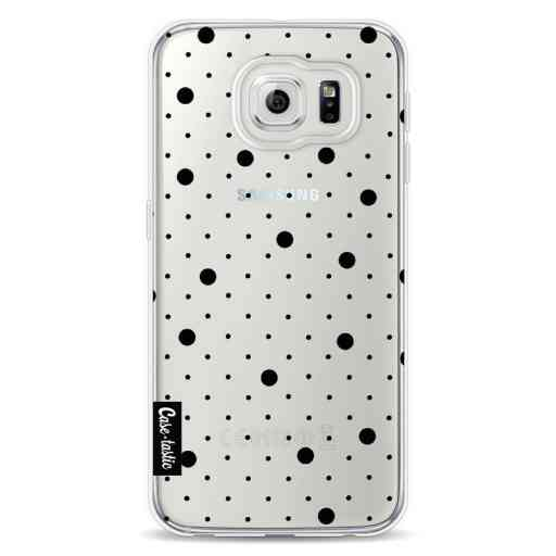 Casetastic Softcover Samsung Galaxy S6 - Pin Points Polka Black Transparent