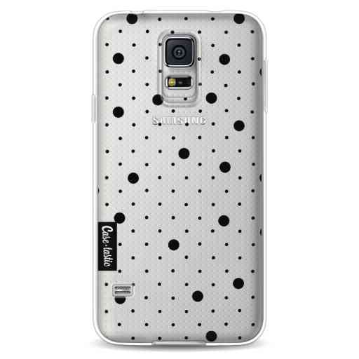 Casetastic Softcover Samsung Galaxy S5 - Pin Points Polka Black Transparent