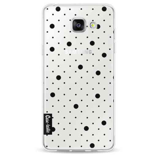 Casetastic Softcover Samsung Galaxy A5 (2016) - Pin Points Polka Black Transparent