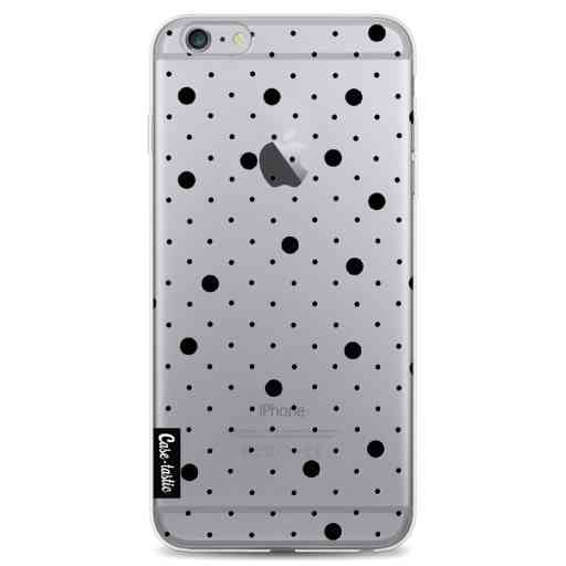 Casetastic Softcover Apple iPhone 6 Plus / 6s Plus - Pin Points Polka Black Transparent