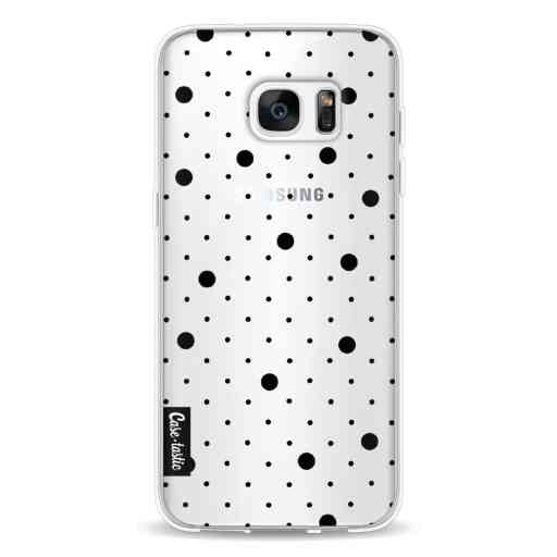 Casetastic Softcover Samsung Galaxy S7 Edge - Pin Points Polka Black Transparent