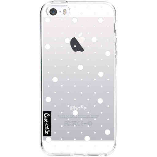 Casetastic Softcover Apple iPhone 5 / 5s / SE - Pin Points Polka Transparent