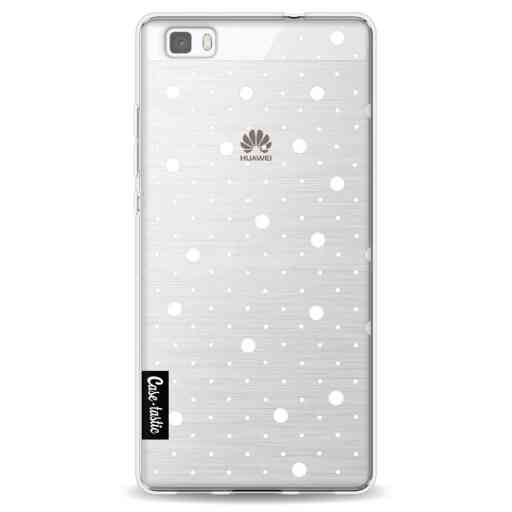 Casetastic Softcover Huawei P8 Lite - Pin Points Polka Transparent