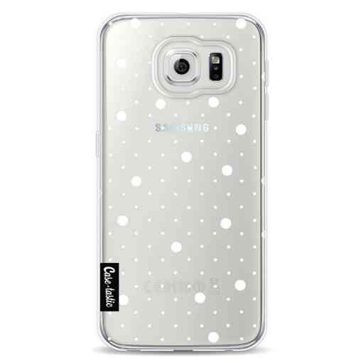 Casetastic Softcover Samsung Galaxy S6 - Pin Points Polka Transparent
