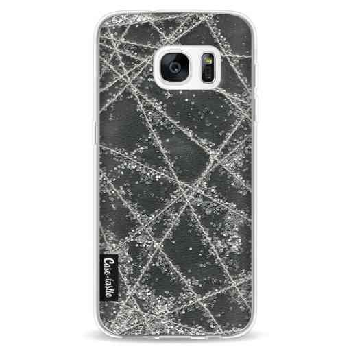 Casetastic Softcover Samsung Galaxy S7 - Sparkle Net Black